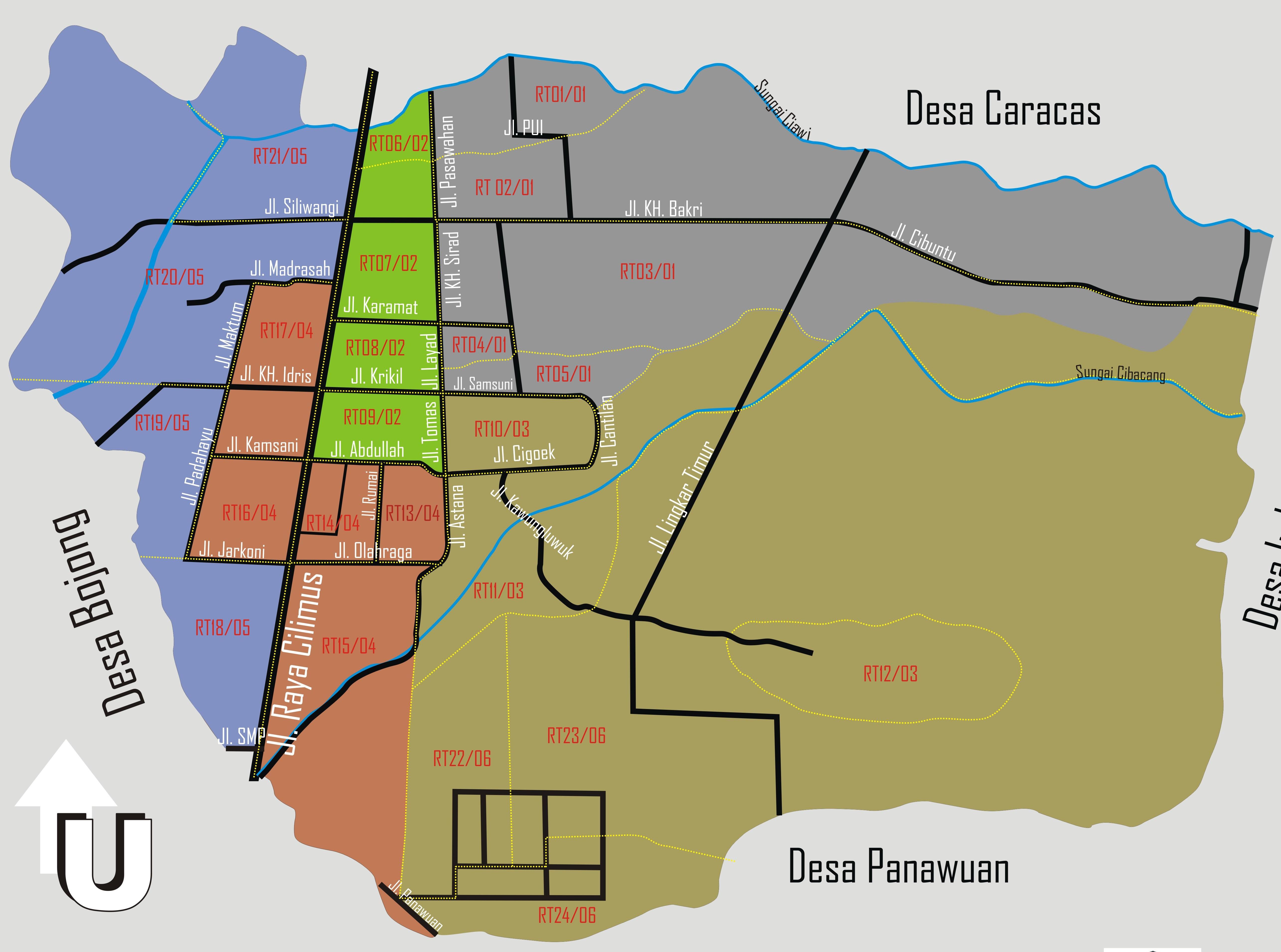 Peta Desa Cilimus   Desa Cilimus, Kecamatan Cilimus ...